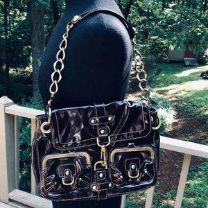 ❤️FIRM Rafe New York Dark Brown Patent Leather Bag